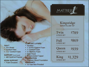 Mattress 1st price card