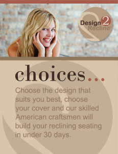Design2Recline Table Top Sign